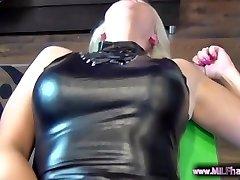 HOT Blonde German MILF with pierced pussy