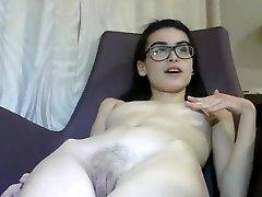 Tiny 18 yr Italian Cam Girl Masturbates-1
