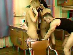 3D teens Threesome - 2