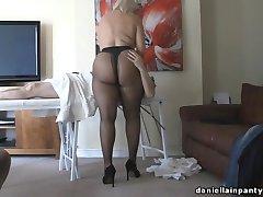 pantyhose masáž veľký zadok žena pančucháče