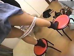 Asian mistresses pee in their slaves 3
