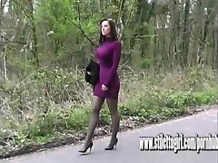Sexy stiletto girl Donna has amazing legs dazzles in high heels shoe fetish