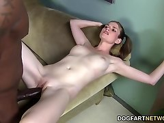 Kate England does threesome with 2 monster dark-hued cocks