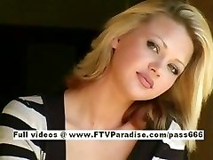 Svetlana lovely blonde woman drinks cofee