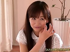 Spurting teen Rimu Sasahara facialized