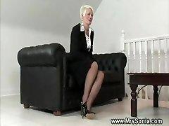 Mature lady shows her mischievous lingerie