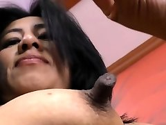 Latina cougar Veronica plays with her 1 inch nipples
