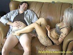 BrandNewAmateurs Lucky Larry Takes Ruby Octroi's Footjob Virginity