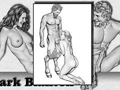 2 Marc Blanton erotik Çizimler - Perileri ve Satyr
