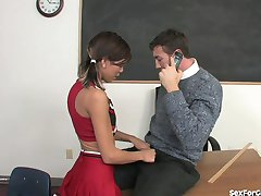 Bad Girl Cheerleader Fucks Her Teacher