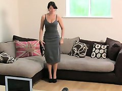 Busty British amateur fucks on casting couch