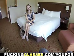 Fucking Glasses - Teeny escort fucks for cash