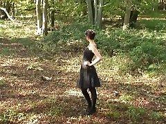 fun in the woods - handjob
