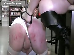 Two kinky MILF fucking dude with strap part6