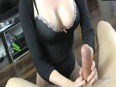 If you cum I'll cut your balls (Handjob & Castration)