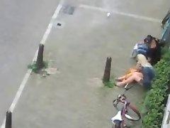İnsanlar (Hollanda) sokakta seks