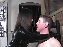 Firm but sensual face slapping