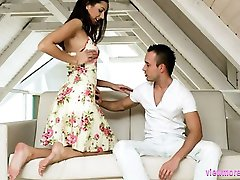 Supercute Kitty Jane fucked and jizzed in a passionate sex