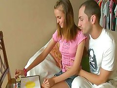 School Crafts Turn Into Teenage Rimjob