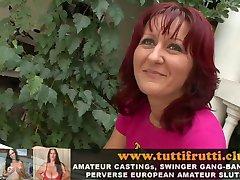 real amateur-EURO-MILF / Reife Frauen pervers Natursekt und anal-porno casting