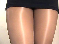 crossdresser pantyhose black