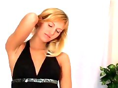 Blonde striptease turns naughty