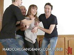 Girl Loves Rough Gangbangs