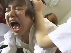 Strapon gangbang by 3 japanese schoolgirls