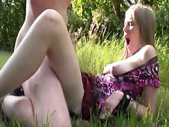 EvelinaJuliet - creampie In Apple garden part 1
