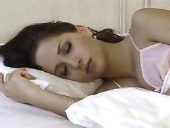 She wakes up and masterbates