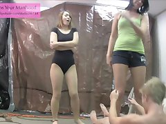 evil siblings 2 ballbusting ballerina leotard pantyhose