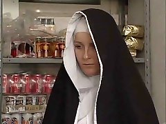 sister Dumcunt fucked at the Paki shop by Dirty old man