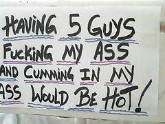 ass for 5 hard cocks........