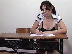 Hot schoolgirl blowjobs in toilet Anal deep on classroom A75