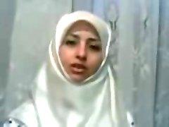 hijab alb nebuna