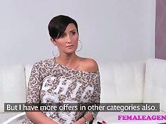 FemaleAgent Big breasts make agent wet with desire