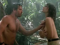 Tawny Kitaen naked in the rain with hard wet nipples