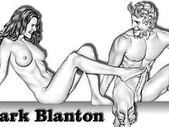 Эротические рисунки Марк Блантон - нимфы и сатир 2