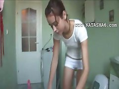 czechian Natasha in water closet