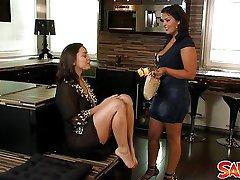 Pornstars Liza Del Sierra and Jasmine Black