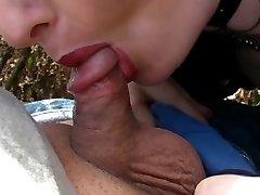 Fetish Gotiske Dame suger liten penis