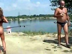 Nude Beach - Nadržená Exhibicionista Představuje pro Voyeuři