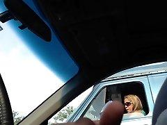 Blikající MILF na semaforu