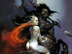 Erotic Fantasy Art Three - Frank Frazetta