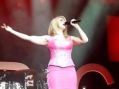 Beatrice Egli Pinkish Mini Dress Upskirt Twat On Stage Oops