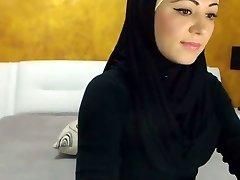 Omamljanje arabski Lepoto Cums na Kamero