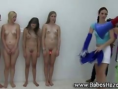 Frat house initiation for young girls