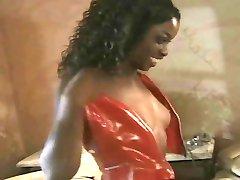 Ebony Sekretārs Ieguva Handjob Izvēle