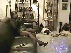 Mistress shows her high heels