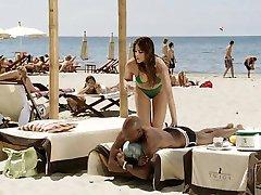 スペインの大幅白い少女と黒人の恋人-Softcore雑